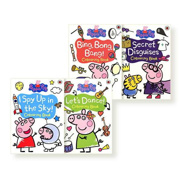Peppa's Colouring 4 PB Shrink-wrap Set