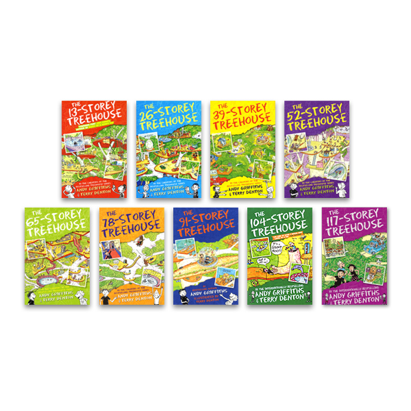 The 13-Storey Treehouse x 9 book pack